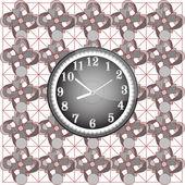 Modèle abstrait avec horloge murale moderne — Photo