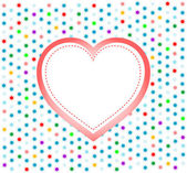 Pair of valentine heart on abstract background — Stock Photo