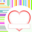 Valentine love heart romantic birthday background — Stock Photo
