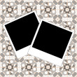 Photo frame set on retro vintage background — Stock Photo