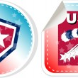 Stickers label set Made in USA — Stock Photo