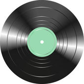 Vintage vinyl record isolated on white background — Stock Photo