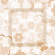 Retro old flowers on vintage background pattern — Stock Photo