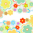 Beautiful flower background art — Foto de Stock