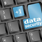 Close up view on conceptual keyboard - data security — Stock Photo