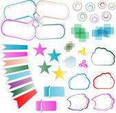 Design elements set, isolated on white — Stock Photo