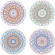 Set of beautiful mandalas and lace circles — Stock Photo #22253283