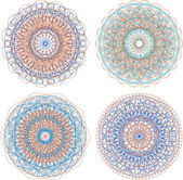 A set of beautiful mandalas and lace circles — Stock Photo