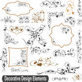Calligraphic design elements set, borders frames — Stock Photo