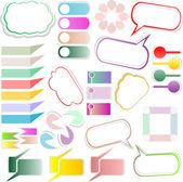 Design elements text box design — Stock Photo