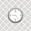 Stock Photo: Grey clock on wall pattern style background