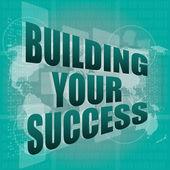 Budowania sukcesu - interfejs cyfrowy dotykowy ekran — Zdjęcie stockowe