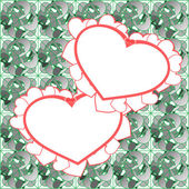 Two heart background design — Stock Photo