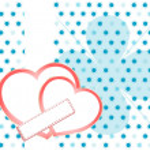San Valentino sfondo con cuori e motivo floreale — Foto Stock