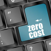 Zero Cost Keys Show Analysis And Value Of An Investment — Stock Photo