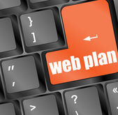 Web plan concept with key on computer keyboard — Stock Photo