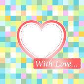 Love karta se srdíčky. pozvánka na lásku — Stock fotografie