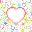 Valentines or wedding heart with abstract background — ストック写真