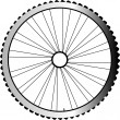 Bike wheel isolated on white background — Stock Photo