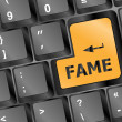 Royalty-Free Stock Photo: Computer Keyboard with Fame Key