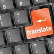 Translate button on keyboard — Foto Stock
