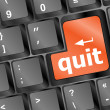 Quit button on black internet computer keyboard — Stock Photo #22966234