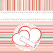 Valentine's paper love heart postcard background — Stock Photo