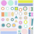 Set of cute scrapbook elements — Stock Photo