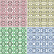 Seamless Colorful background Collection - vintage tile — Stock Photo