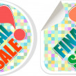 Final sale - best discount sale stickers set — Stock Photo