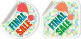 Final Dergisi - en iyi indirimli satış etiketleri ayarla — Stok fotoğraf