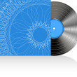 Black vinyl disc with abstract cover — Stock Photo