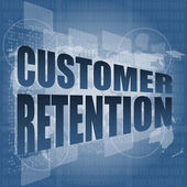 Customer retention word on business digital screen — Stock Photo
