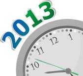 Nowy rok 2013 koncepcja zbliżenie zegar na tle whte — Zdjęcie stockowe