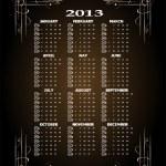 Vintage 2013 calendar — Stock Photo #23983599