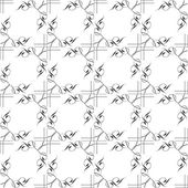 Black and white geometric seamless patterns — Photo