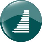 Graf webové tlačítko ikona izolované — Stock fotografie