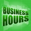 Business hours on digital touch screen — Stock Photo