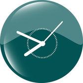 Zegar ikonę web przycisk znak — Zdjęcie stockowe