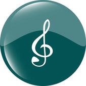 Muzyka www błyszczący ikona na białym tle okrągły — Zdjęcie stockowe