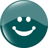 Smile icon glossy button — Stock Photo
