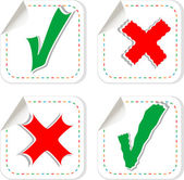 Check mark stickers label tag set — Stock Photo