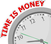 Time is money, isolated clock with money time icon — Foto de Stock