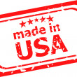 Made in USA stamp — Stock Photo