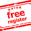 Stock Photo: Free register red stamp