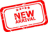 Grunge new arrival rubber stamp — Stock Photo