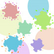 Multicolored blots on a abstract background — Stock Photo