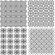 Geometric seamless patterns set, backgrounds collection — Stock Photo