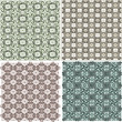 Morocco Seamless Patterns Background Set — Stock Photo