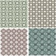 Morocco Seamless Patterns Background Set - Stock Photo